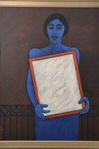 Artist -Krishan Ahuja, title - lady with mirror