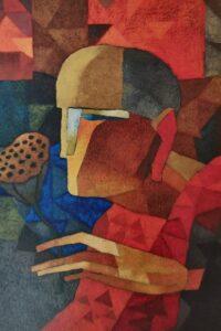 Artist-Nirensen Gupta, Title-Monk
